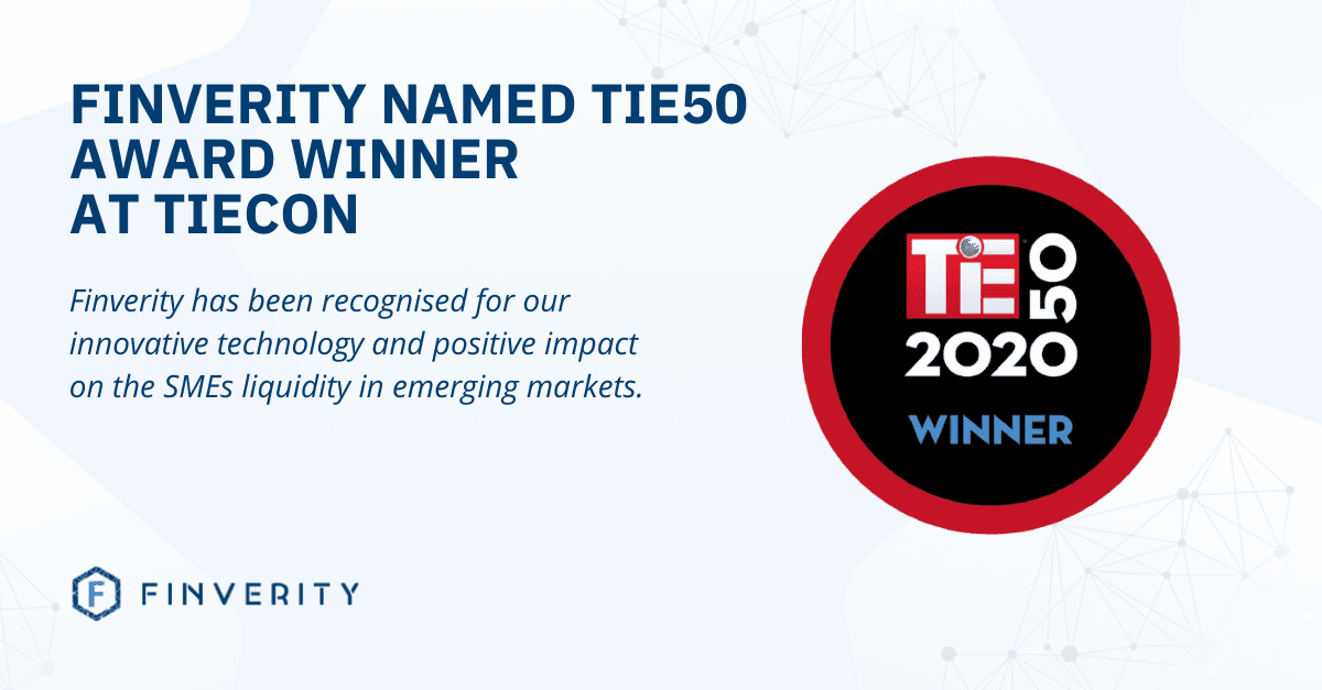 Finverity Named TiE50 Award Winner at TiEcon